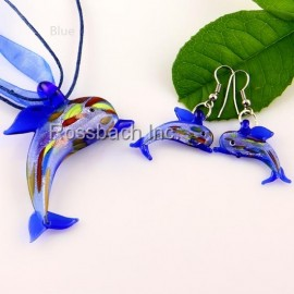 Dolphin Glass Jewelry set