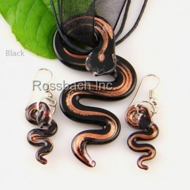 Snake Glass Jewelry set